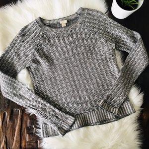 J. CREW Gray Merino Wool Bld Crew Neck Sweater M